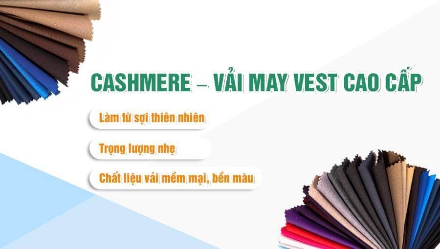 Cashmere – vải may vest nam cao cấp