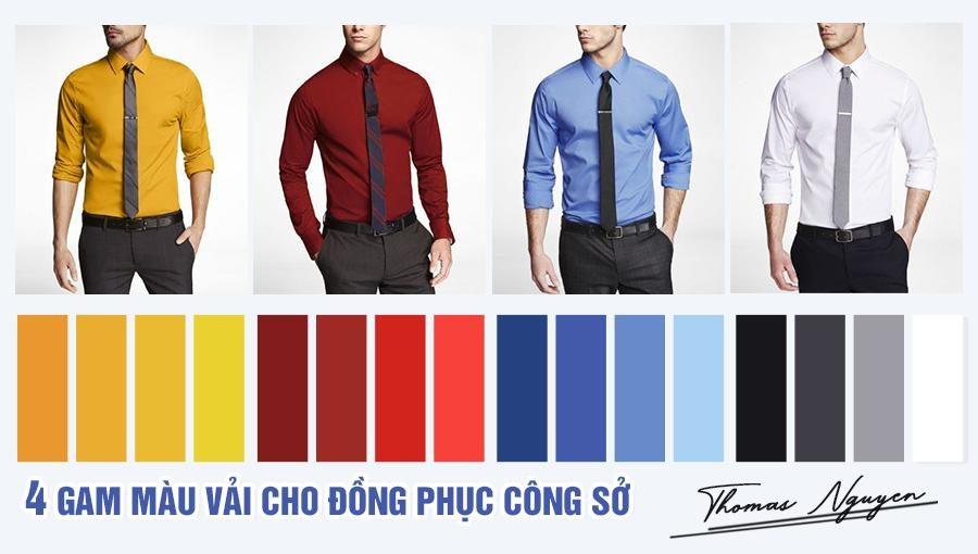 4 Gam màu vải phù hợp may quần áo đồng phục công sở