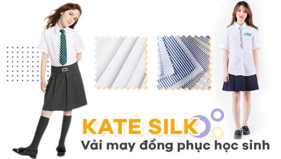 Vải kate silk – Vải may sơ mi học sinh