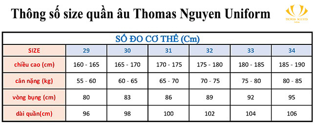 dịch vụ may đồng phục theo size