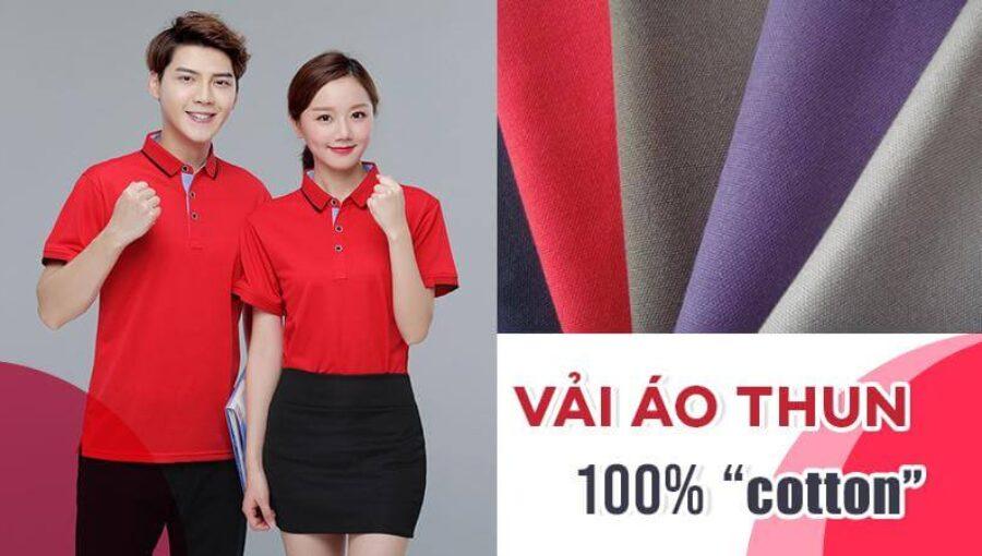 Vải áo thun 100% cotton