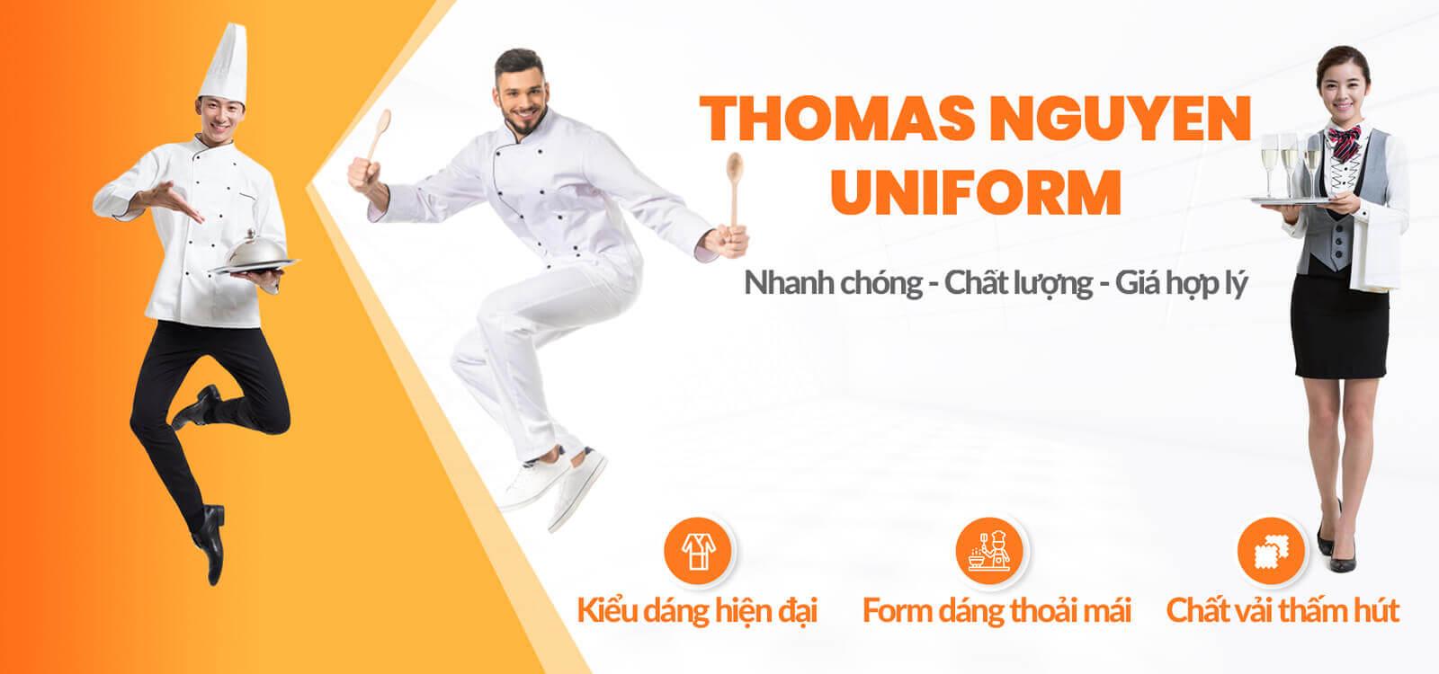 banner đồng phục nhà hàng Thomas Nguyen