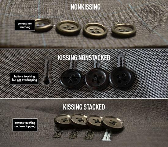 Những kiểu đính nút tay áo