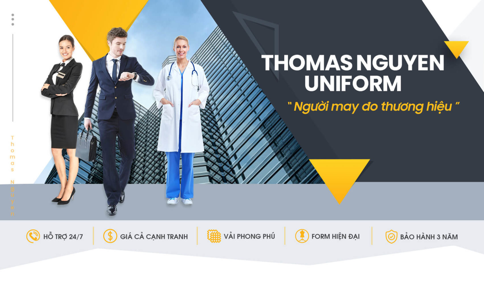 May đồng phục Thomas Nguyen