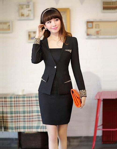 vest nữ, đồng phục công ty
