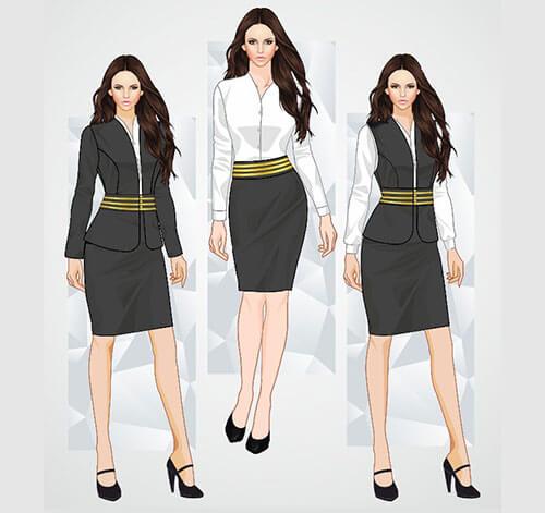 mẫu đồng phục công sở