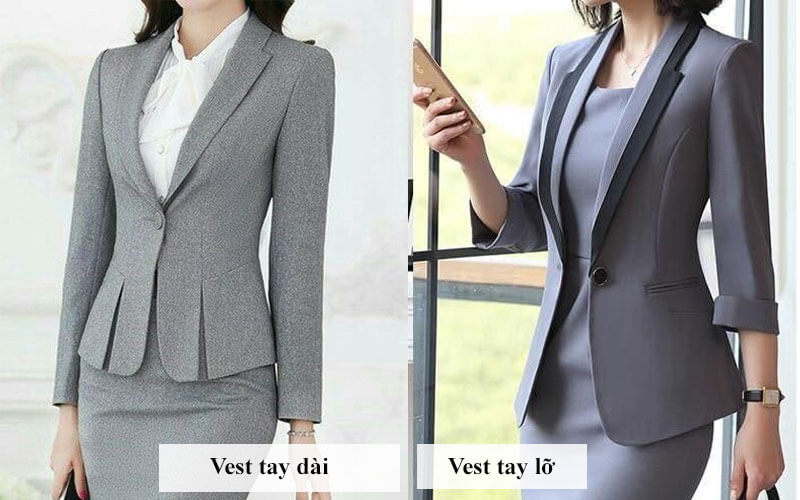 vest nữ đồng phục
