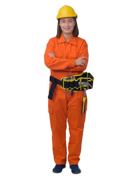 đồng phục nhân viên điện lực màu cam