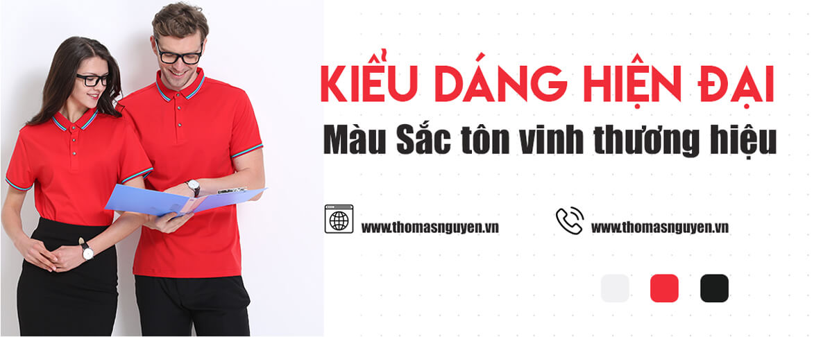 Slider may áo thun đồng phục Thomas Nguyen Uniform