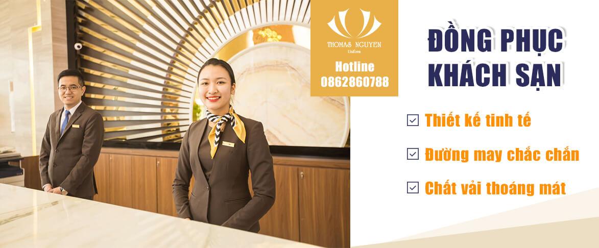 Banner may đồng phục khách sạn