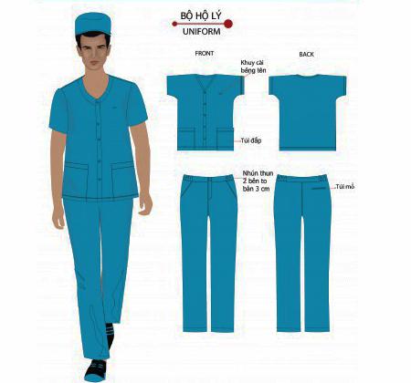 thiết kế trang phục hộ lý