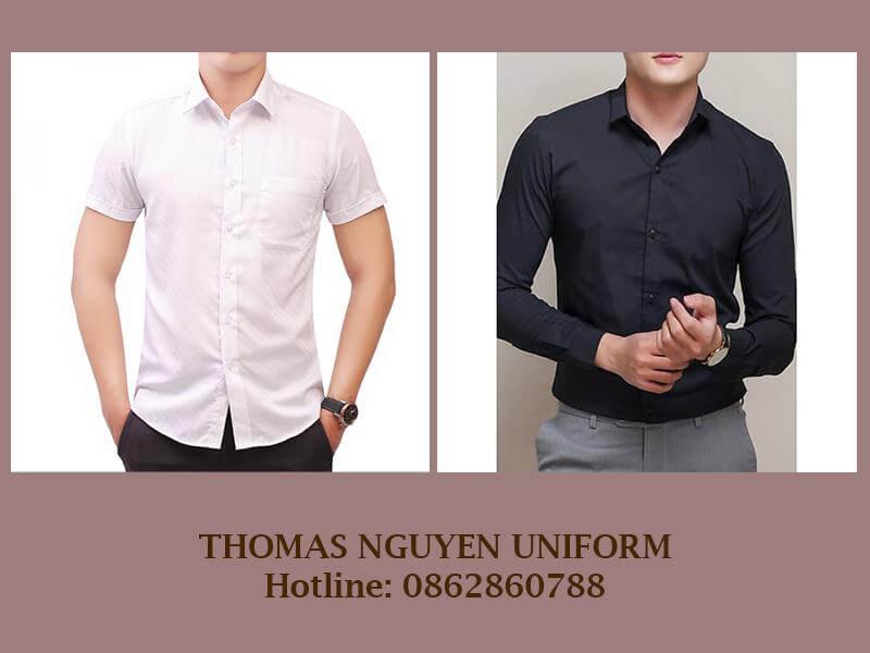 Áo sơ mi đồng phục công sở nam Thomas Nguyen