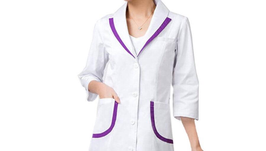 Áo blouse tay ngắn đồng phục may đo và may size bền đẹp