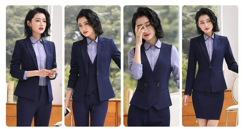 Gợi ý mẫu đồng phục vest nữ công sở