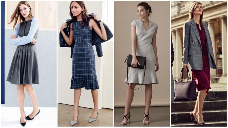 Đầm đồng phục công sở nữ