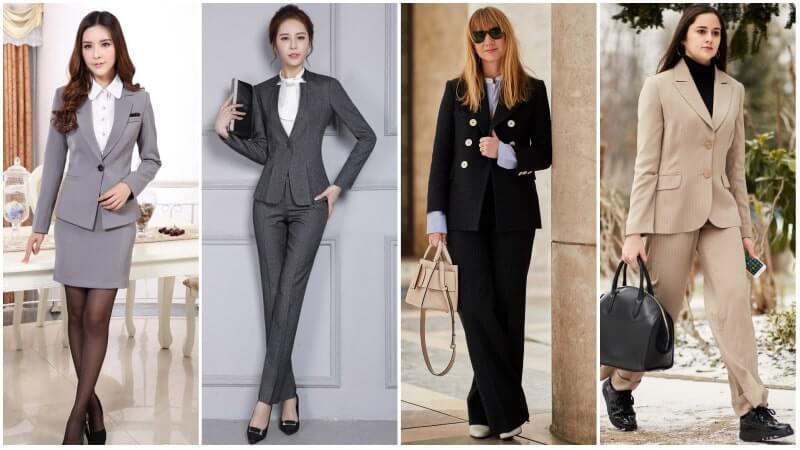 Bộ suit đồng phục công sở nữ