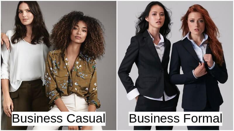 Trang phục văn phòng thông thường và trang phục văn phòng chính thức