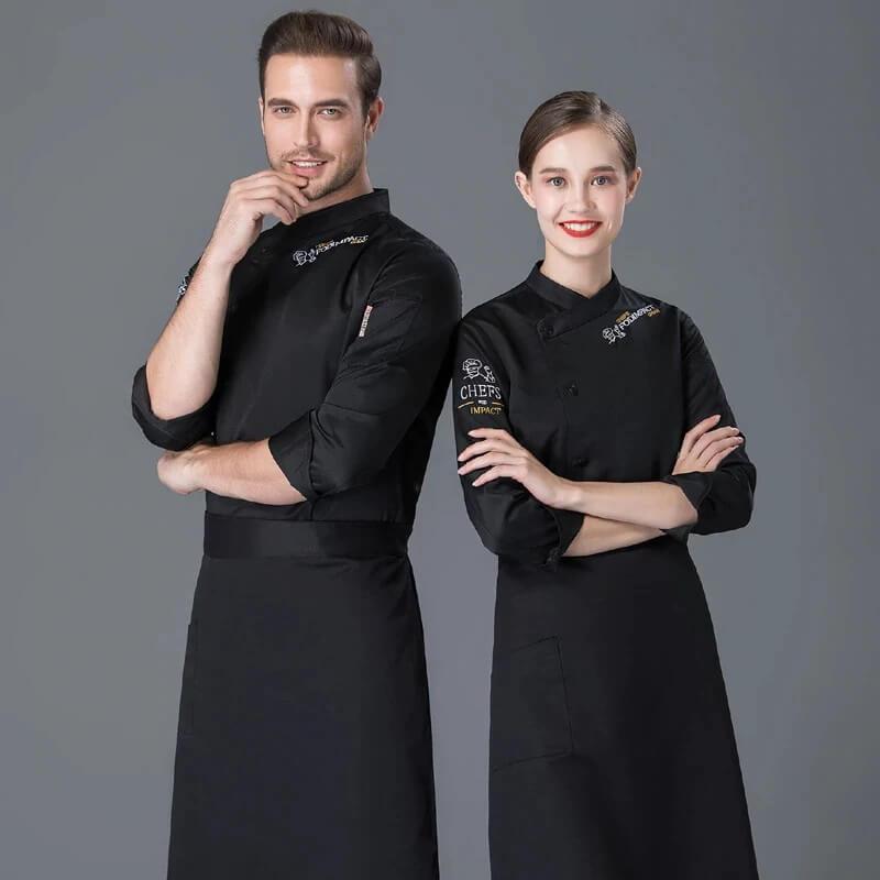 Chọn đồng phục nhà hàng màu đen