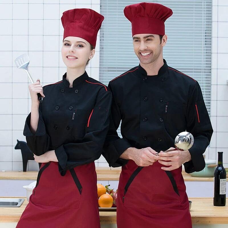 Các khuyến nghị nguy hiểm nên tránh cho đồng phục nhân viên là đầu bếp
