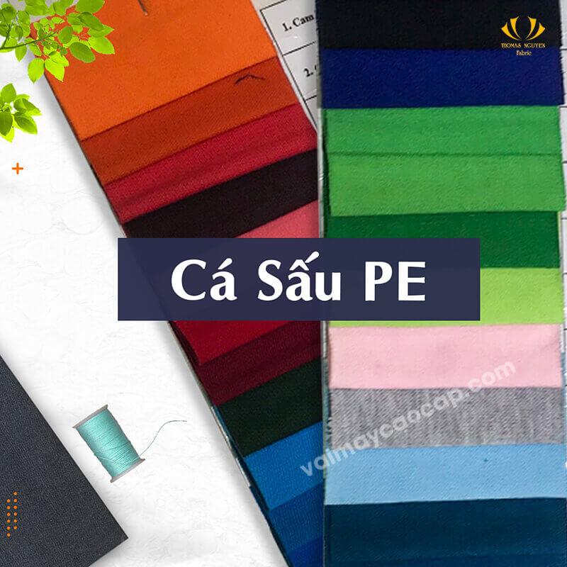 Vải thun cá sấuPE 35% Cotton 65% Polyester