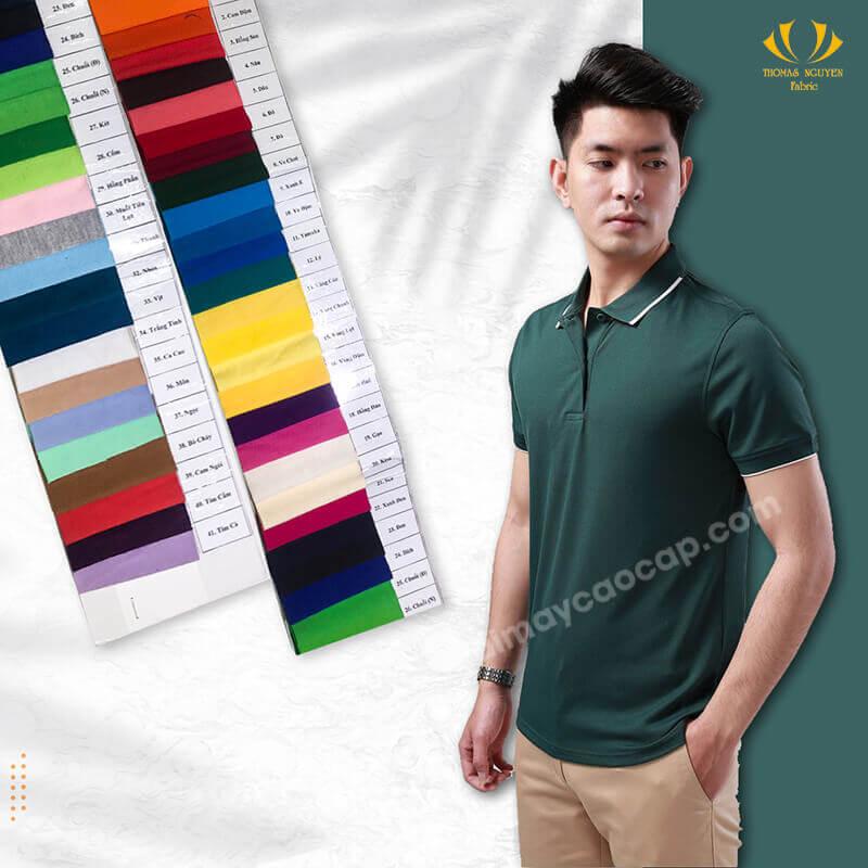 Vải thun lạnh 25% Cotton 75% Polyester